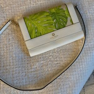 Kate Spade Shoulder Palm Leaf Print Crossbody Bag